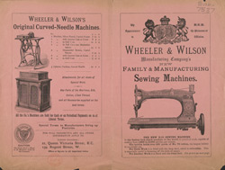 Advert for Wheeler & Wilson, sewing machine manufacturer 7537